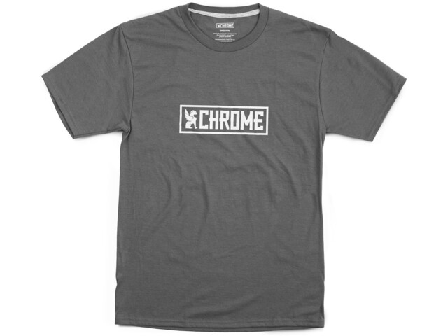Chrome Horizontal Border Tee, szary/biały